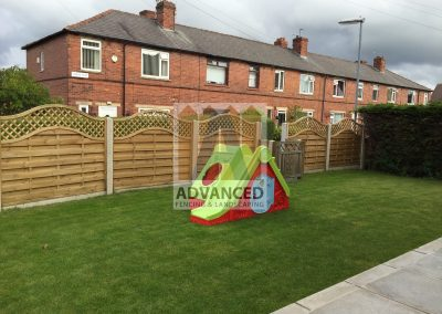 Concrete Posts, Gravelboard, Timber Panel Fencing